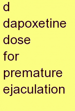 m dapoxetine dose for premature ejaculation