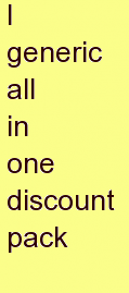 h generic all in one discount pack
