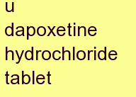 b dapoxetine hydrochloride tablet