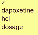 o dapoxetine hcl dosage